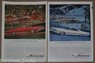 1966 MERCURY advertisement x2, Park Lane, Southern Pines, N.C & Sun Valley Idaho