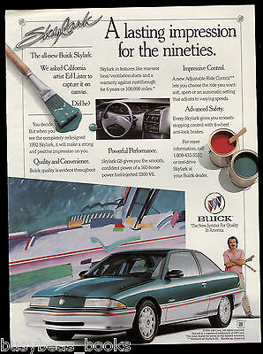 1992 BUICK SKYLARK advertisement, two-tone Buick sedan, artist Ed Lister