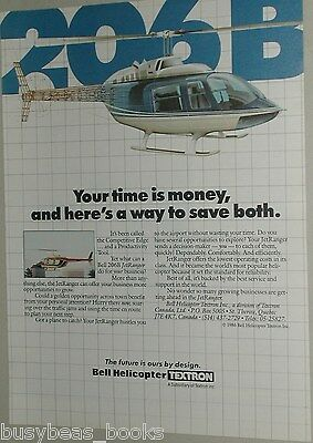 1987 Bell Helicopter ad, Bell 206B business helicopter