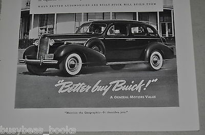 1938 Buick advertisement, Buick Roadmaster, General Motors, big sedan