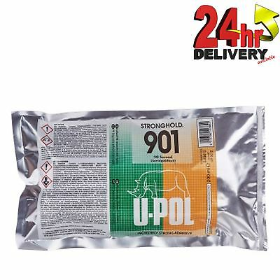 U-Pol Stronghold 901 Semirigid Black Strong Adhesive 50ml Cartridge Upol