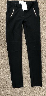 Girls Brand New Tagged Black Stretch Trousers Age 10 Yeats