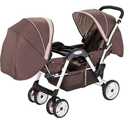 AmorosO No.45156 Brown Luxurie Double Stroller Face to Face