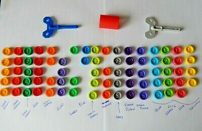 Downfall Game Spare Replacement Pieces Counters, Key - New Colours Added