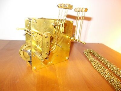 Postwar German Westminster Chime 8 Day Chain Movement- Unknown Maker