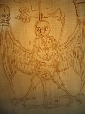 "Rare""alchemical Formulae"" Ink Drawing On Ancient  Paper Occult Dark  Magick"