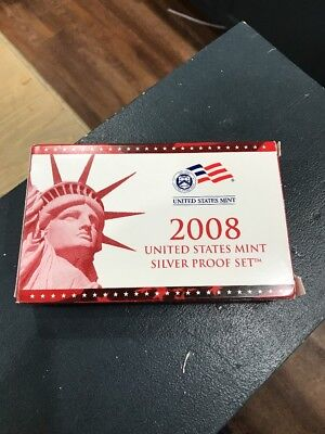 2008 US Silver Proof Set With COA
