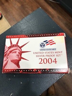 2004 US Silver Proof Set With COA