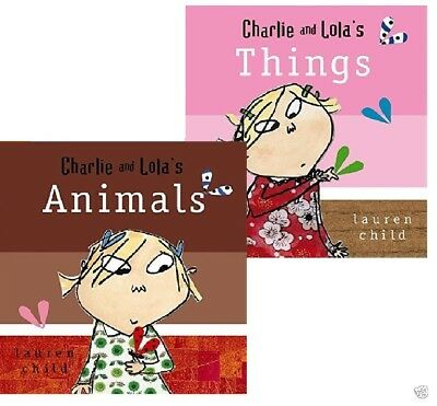 NEW  -  CHARLIE AND LOLA ( BOARD BOOK) ANIMALS  by Lauren Child 9781846166921