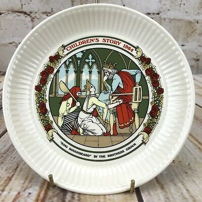 "Wedgwood 1984 Children's Story 6"" Plate King Roughbeard The Brother Grimm"