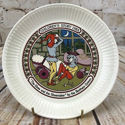"Wedgwood 1983 Children's Story 6"" Plate The Elves & Shoemaker The Brother Grimm"