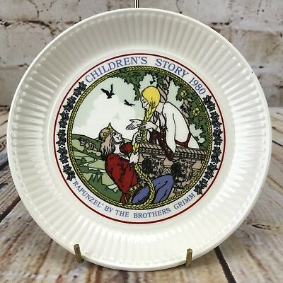 "Wedgwood 1980 Children's Story 6"" Plate Rapunzel The Brother Grimm // CRAZED"