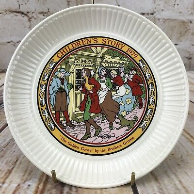 "Wedgwood 1979 Children's Story 6"" Plate The Golden Goose The Brother Grimm"
