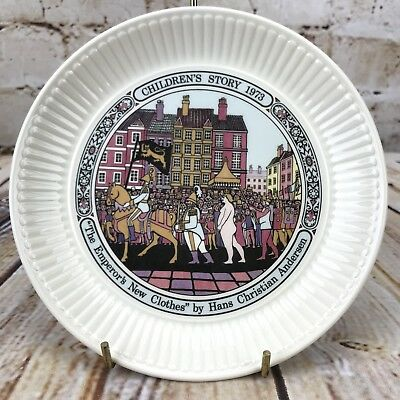 "Wedgwood 1973 Children's Story 6"" Plate The Emperor's New Clothes H.C. Anderson"