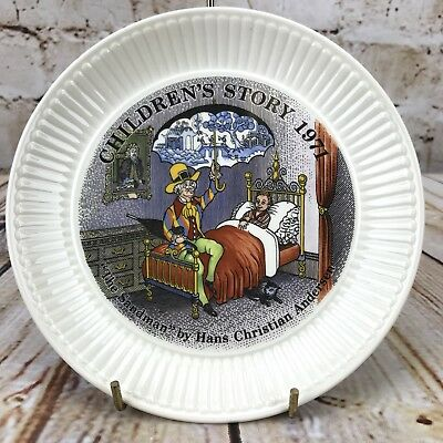 "Wedgwood 1971 Children's Story 6"" Plate The Sandman Hans Christian Anderson"