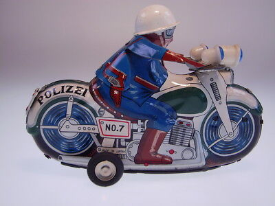 GSMOTO ICHIKO JAPAN MOTORCYCLE *POLIZEI NO 7* 16 cm, FR OK,NEARLY NEW/NEU/NEUF !