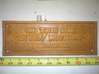 Old Style Barn Garden Bar Mancave Sign Nothing Happened Here In 1897