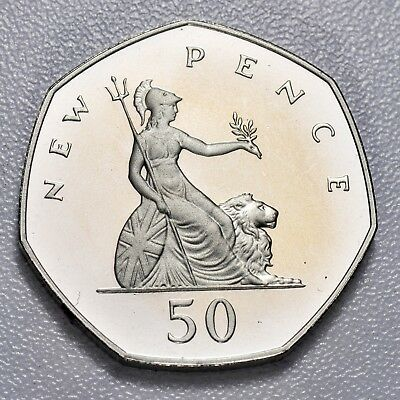 Gb New Fifty Pence - 1980 - Proof ++ Perfect!! -- Free S&h Usa!! ++[887-06]