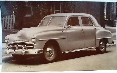 1951 Advertising Postcard Car Promo 1951 Plymouth Cranbrook 4 Dr Sedan