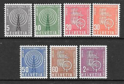 SWITZERLAND - I.T.U. Org. - 1958/60.  Part Set of 7, MNH