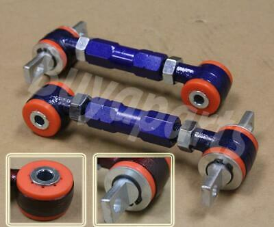 Real Solid Polyurethane Bushings Racing Rear Camber kit for 88-91 Civic EF Blue