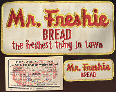 Scarce Lot Of 3 Advertising Pieces, Mr. Freshie Bread, Jefferson City, Mo.