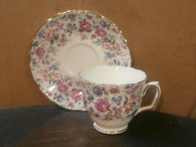 Crown Staffordshire Floral Bone China Cup And Saucer - England