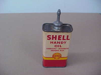 Vintage Shell Handy Oil (Handy Oiler) Can  (Lead Spout)  Nice !!!