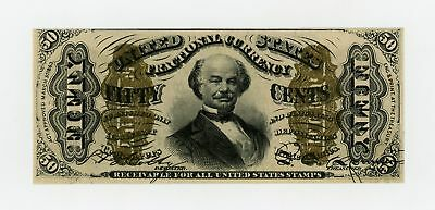 """3rd Issue Fr.1333 50c United States """"SPINNER"""" Fractional Currency Note AU"""