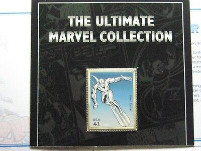 Silver Surfer Marvel Enamel Usps 999 Silver Bar Coin Carded Paper Very Rare #z