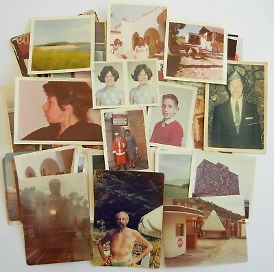 HUGE LOT of 100 Vintage COLOR SNAPSHOTS Photos OLD PHOTOGRAPHS 1950s-60s-70s-80s