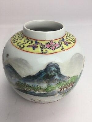 CINA (China): Beautiful Chinese antique jar Hand Painted Very Old 乾隆年间古董小瓶