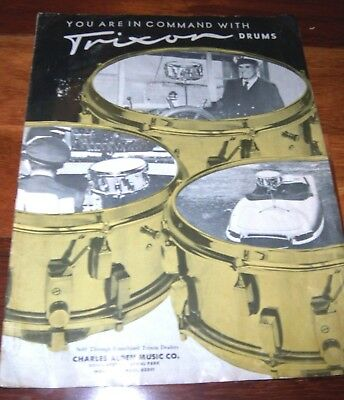 Scarce Early 1960's TRIXON DRUMS Catalog, Full Line