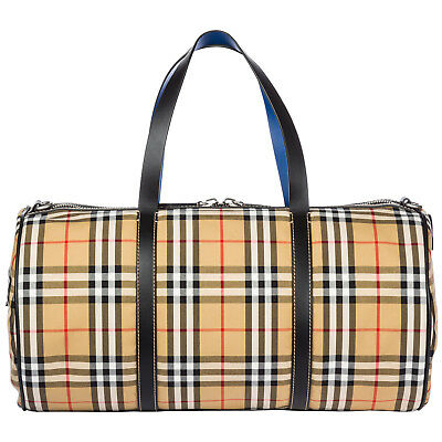 Burberry Travel Duffle Weekend Shoulder Bag New Kennedy Brown 69E