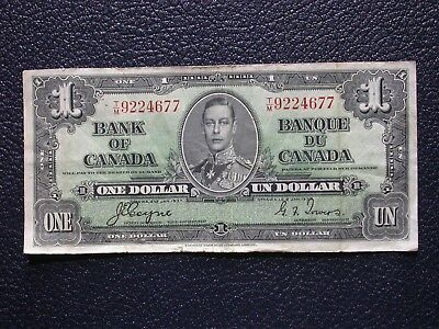 Bank of Canada - 1937 $1 One Dollar Coyne/Towers