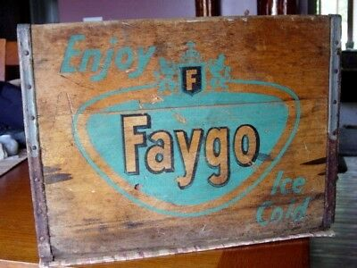 1950's Faygo FEIGENSON Detroit MICHIGAN Mich. MI. soda pop bottle Delivery Crate