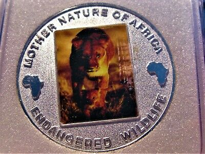 2004 Lions 10 Kwacha Republic Of Malawi Mother Nature Of Africa Coin Large!!!