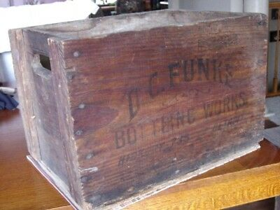 1920's D.C. FUNKE Detroit MICHIGAN Mich. MI. soda pop bottle Wood Delivery Crate