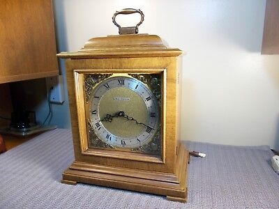 """1966 Seth Thomas """"legacy"""" Westminster Chime Electric Bracket Clock, Excellent"""