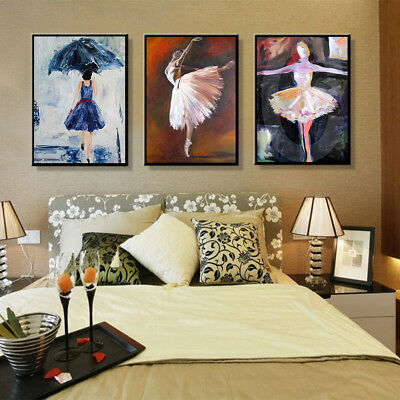Abstract Girl Canvas Wall Painting Poster Picture Art Home Decor Unframed Exquis