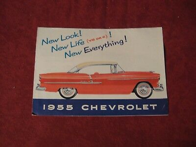 1955 Chevy Full line Original Showroom Salesman Brochure Booklet Old Book