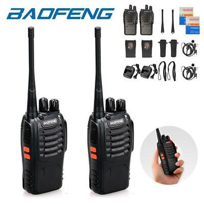 2 Pack Baofeng BF-888S Two Way Ham Radio UHF 400-470MHz Portable Walkie Talkie