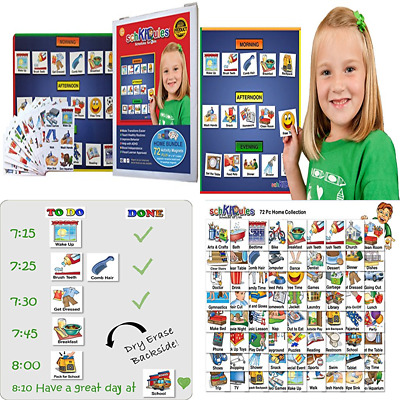 VISUAL DAILY SCHEDULES  ROUTINES SET w 120 PECS PICTURE CARDS