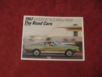 1967 Ford Mustang Shelby GT 350/500 booklet Brochure Old Original Book Catalog