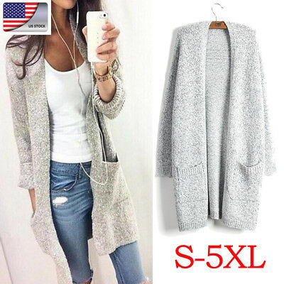 Womens Long Sleeve Oversized Cardigan Sweater Loose Wrap Sweater Knitted Outwear