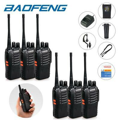 6 Pack Baofeng BF-888S Two Way Ham Radio UHF 400-470MHz Portable Walkie Talkie