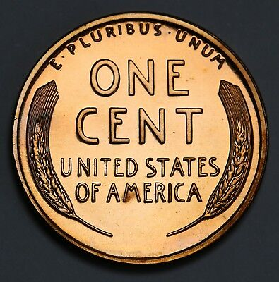 1955 US Lincoln Wheat Ears Cent Proof Penny Coin KM# 132