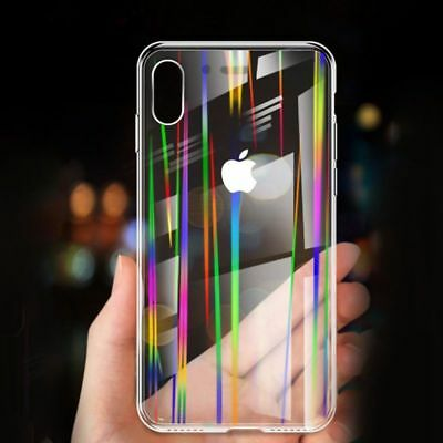 For iPhone Xs XR Max Luxury Tempered Glass Cover Protective Case Transparent