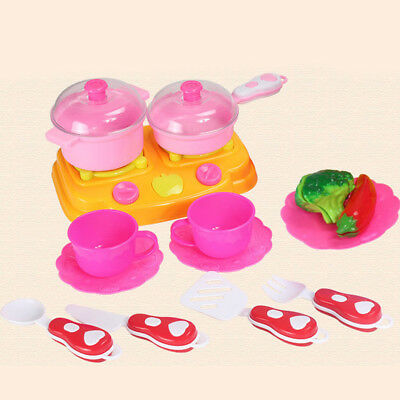 Kids Child Kitchen Fruit Vegetable Food Pretend Role Play Cutting Toys Set Kit