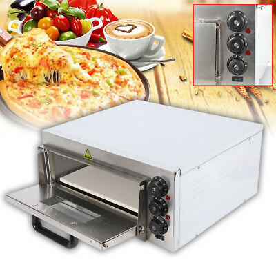 Four à Pizza Professionnel Four Pizza Electrique Barbecue Pain 1Chambre 2000W DE